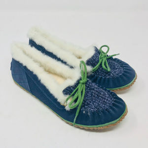 Sorel Suede Out N About Slipper Moccasin Furry